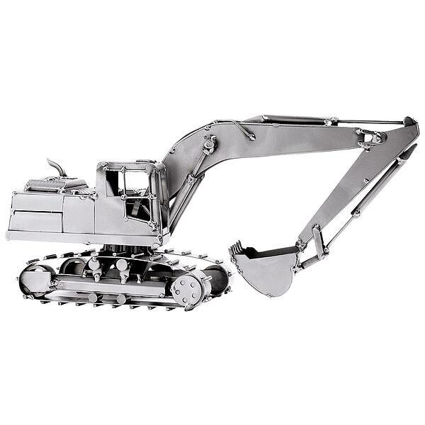 Modell aus Metall Baufahrzeug Bagger