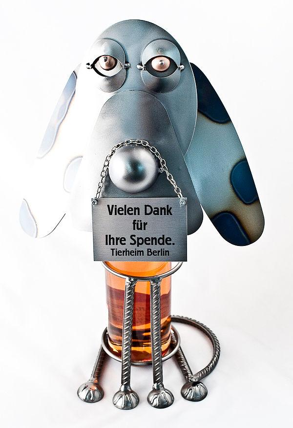 Weinflaschenhalter Hund