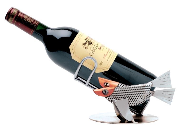 Weinflaschenhalter mit Sternzeichen Fische
