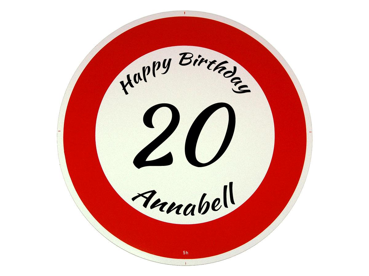 Verkehrsschild als Geburtstagsgeschenk - Geschenk zum 20. Geburtstag