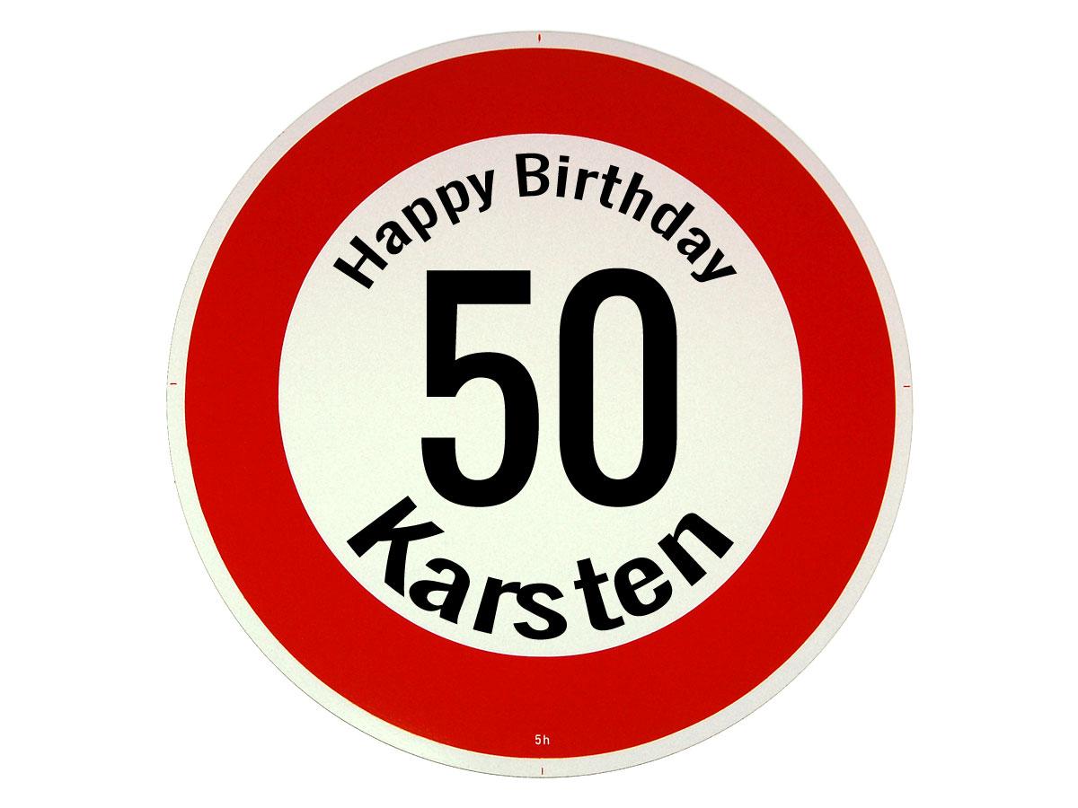 Verkehrsschild als Geburtstagsgeschenk - Geschenk zum 50. Geburtstag