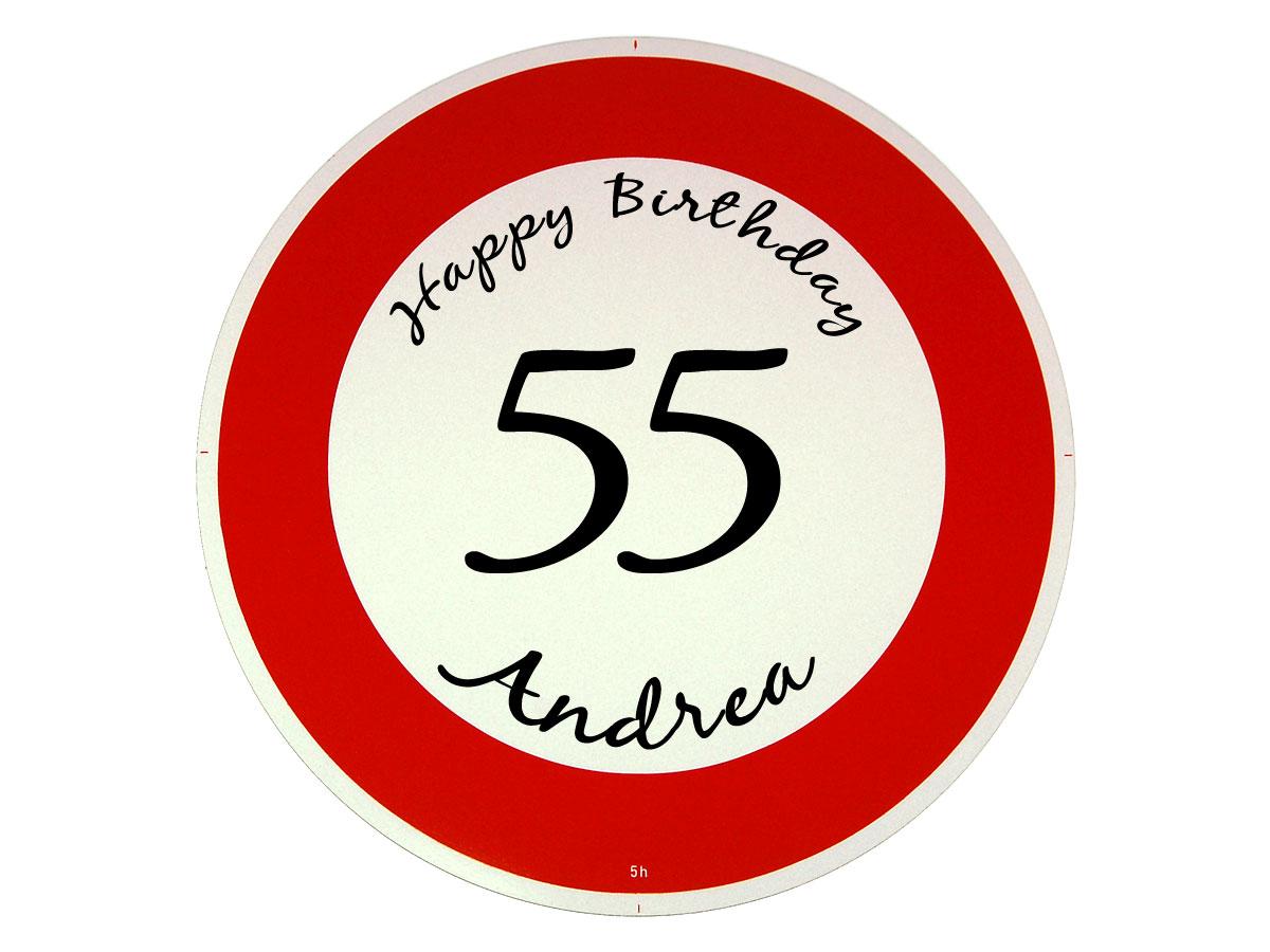 Verkehrsschild als Geburtstagsgeschenk - Geschenk zum 55. Geburtstag
