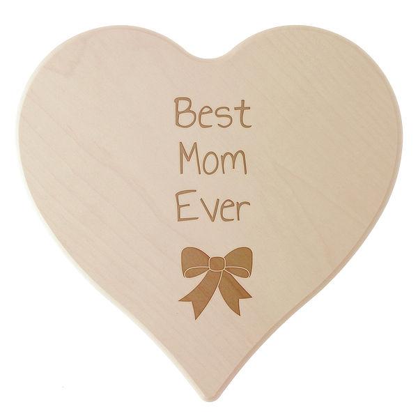 Geschenk für die Mama - Schneidebrett mit Wunschtext und Symbol Größe: 24 cm