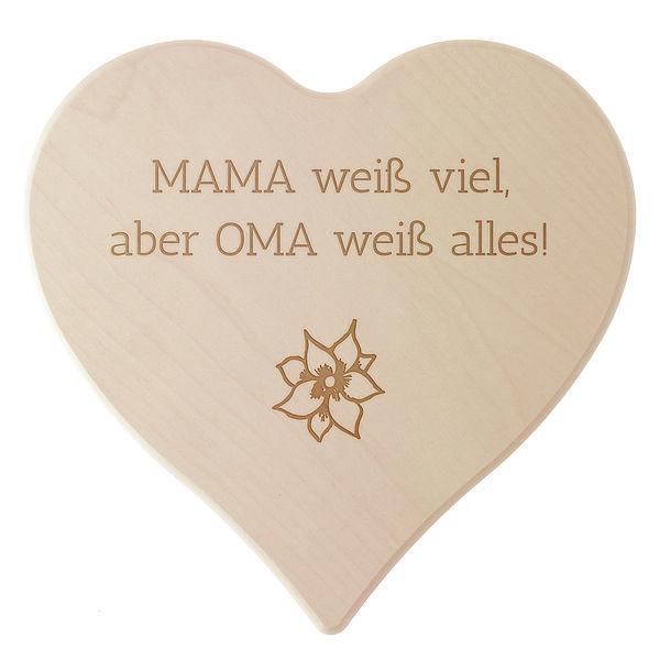 Geschenk für die beste Oma der Welt oder eigenem Wunschtext Größe: 24 cm
