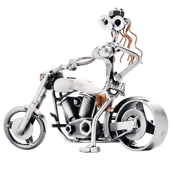 Schraubenfrau - Sexy Lady auf Motorrad