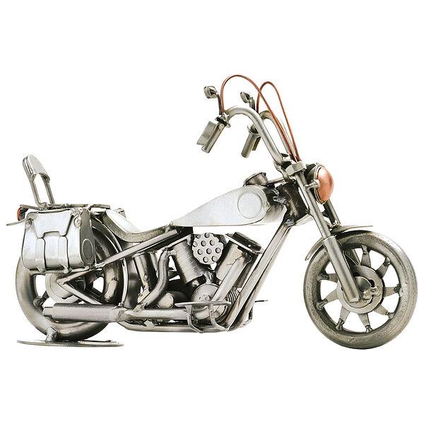 Metallfahrzeug Motorrad mit Satteltasche