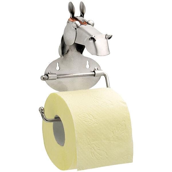 Image of Schraubenmännchen Toilettenpapierhalter mit Pferdekopf