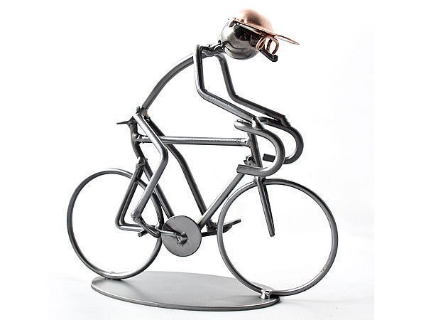 Metallmann Rennradfahrer - Wired Line