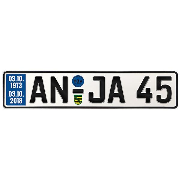 Geschenk zum 45. Geburtstag Geburtstagsgeschenk Schild mit TÜV