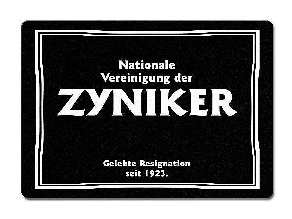 Nationale Vereinigung der Zyniker Gelebte Resig...