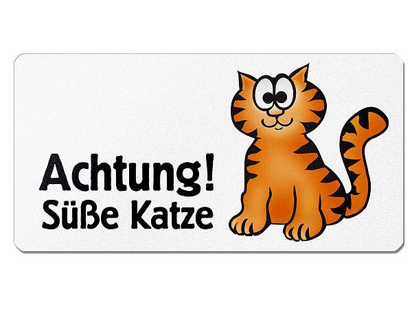 Grafikschild - Süße Katze mit individuellem Wunschtext