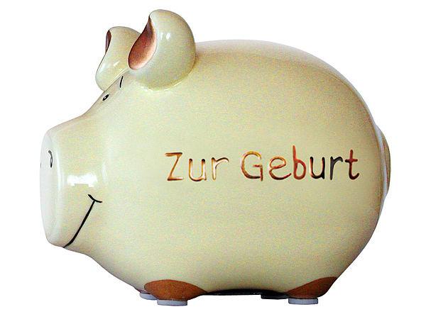 Cooles Sparschwein aus Keramik - Begrüßungsgesc...