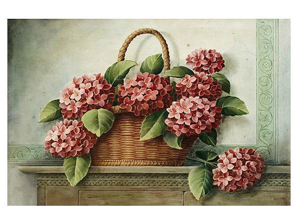 Fußmatte Hortensien