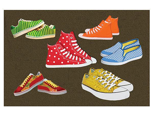 Fußmatte mit trendigem Sneaker Motiv