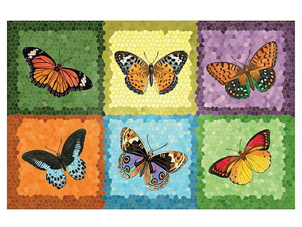 Fußmatte mit Schmetterlingen
