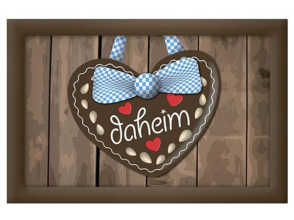 Fußmatte Lebkuchenherz liebevoll mit Herz und Schleife gestaltet Daheim