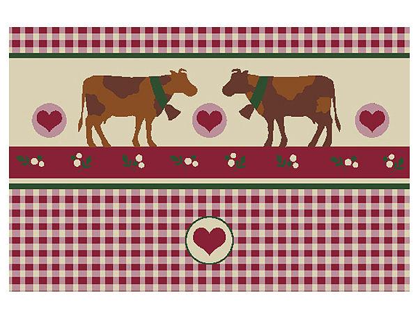 Fußmatte mit Kühen im Landhaus Stil