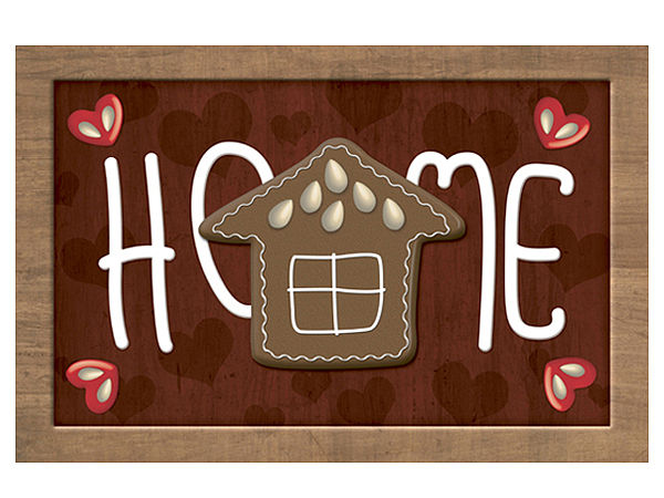 Fußmatte mit Pfefferkuchenhaus Home