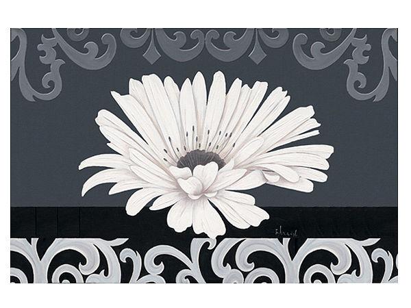 Fußmatte mit schmucker weißer Gerbera - Blüte