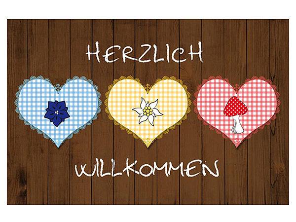 Aus Der Kollektion Der Gallery Fußmatten: Fußmatte Mit Herzen   Herzlich  Willkommen