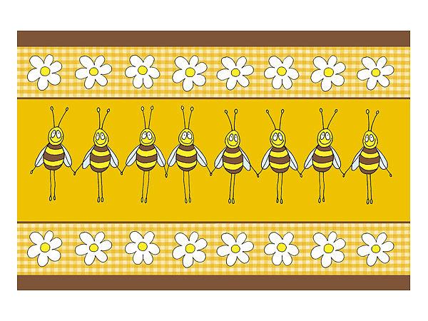 Fußmatte mit lustigem Bienenmotiv