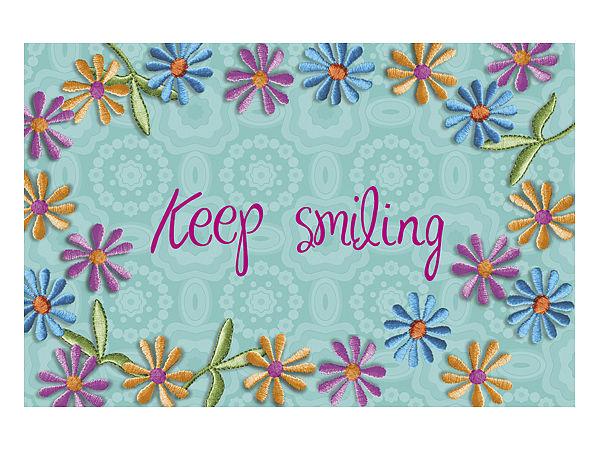 Fußmatte keep smiling