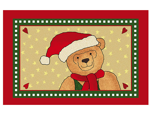 Fußmatte mit niedlichem Weihnachtsteddy
