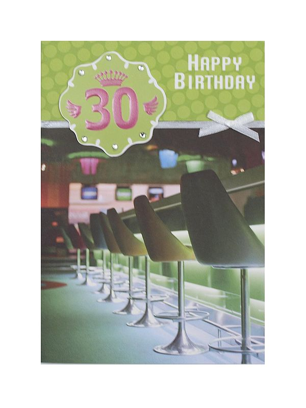 Geburtstagskarte zum 30. Geburtstag mit Briefumschlag