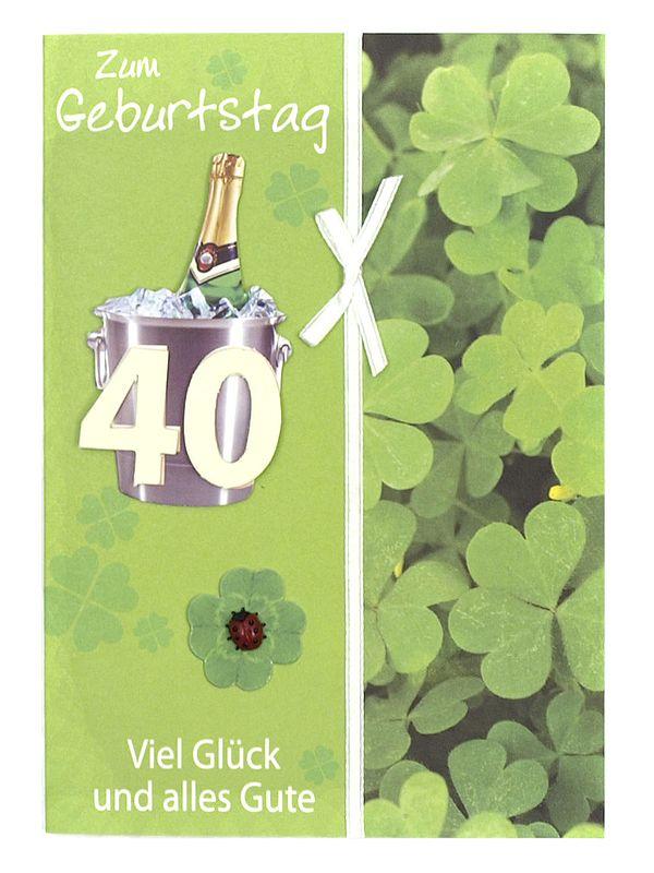 Geburtstagskarte zum 40. Geburtstag mit Briefum...