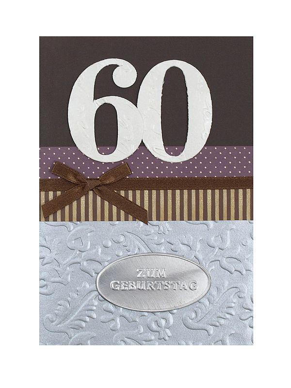 Geburtstagskarte zum 60. Geburtstag mit Briefumschlag