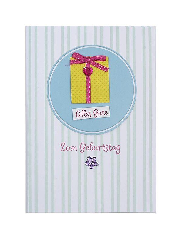 Geburtstagskarte zum Geburtstag mit Briefumschlag