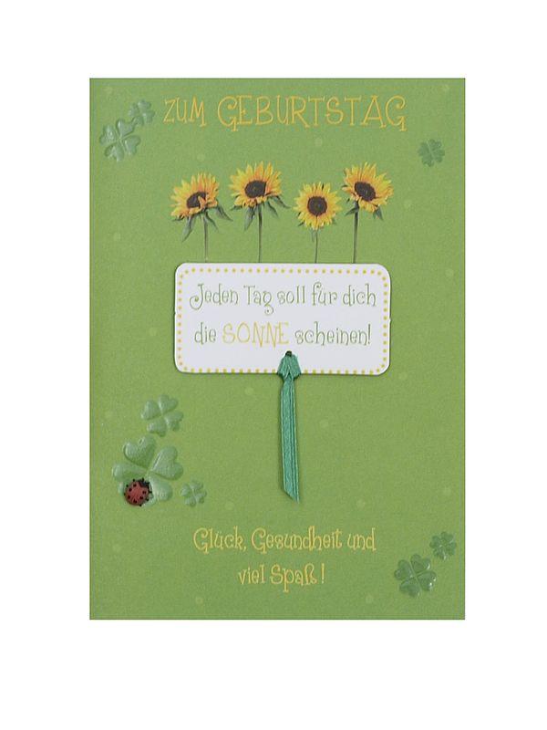 Geburtstagskarte Sonnenblumen zum Geburtstag mi...