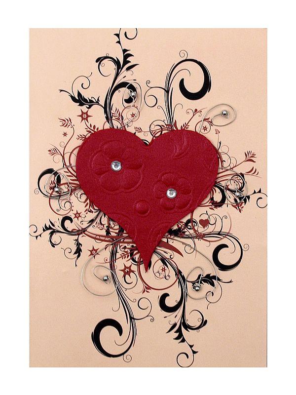 Klappkarte als Grußkarte - Motiv Herz