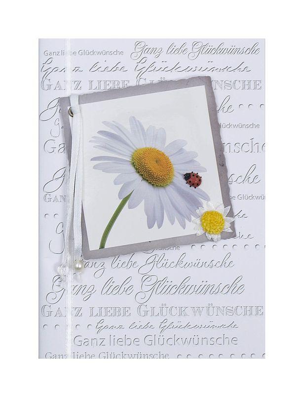 Grußkarte mit Glückwünschen zum Geburtstag oder für verschiedene andere Anlässe