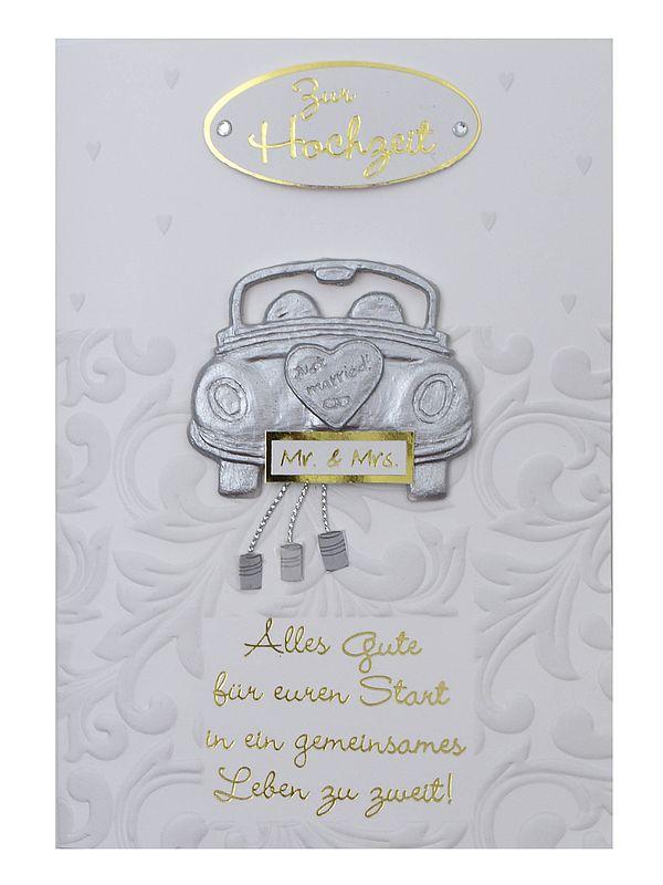 Grußkarte für Glückwünsche zur Hochzeit