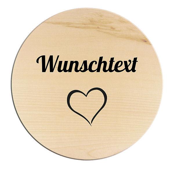 Rundes Holzschild mit individuellem Wunschtext