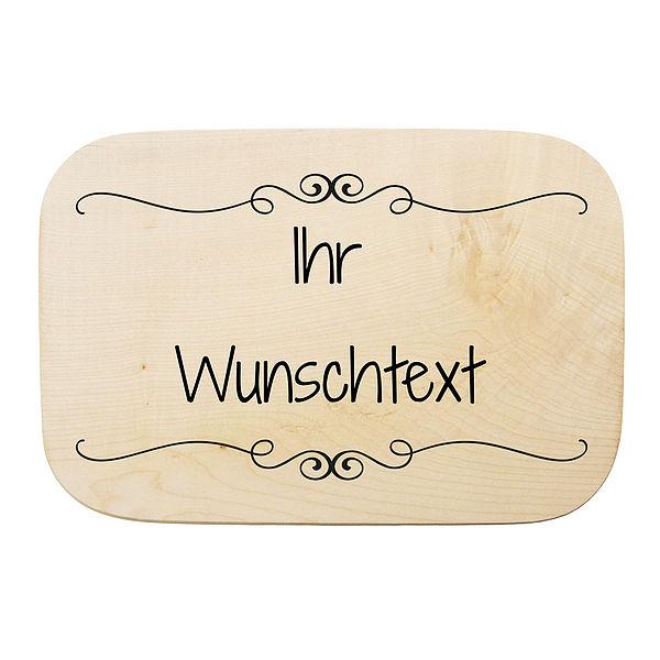 Rechteckiges Holzschild mit Ihrem Wunschtext