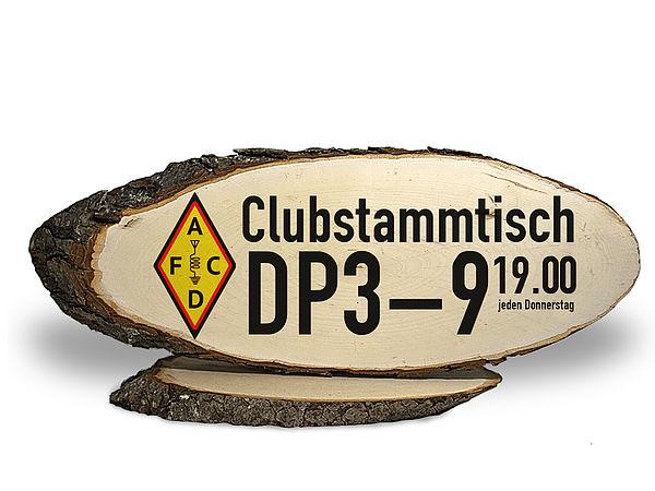 Stammtisch Holzschild für Amateurfunker