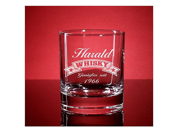Whiskyglas Islande mit Gravur