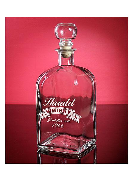 Individuellküchenzubehör - Karaffe für Whisky mit individueller Gravur - Onlineshop 1a Geschenkeshop