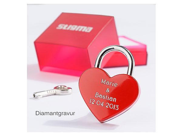 Individuellbesonders - kleines Liebesschloss mit Ihrer persönlichen Botschaft - Onlineshop 1a Geschenkeshop