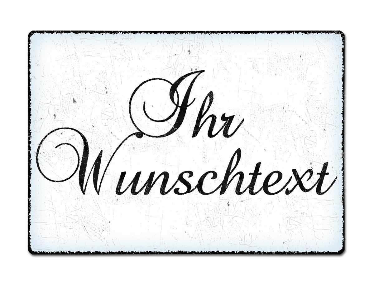 Blechschild A4 mit individuellem Wunschtext im Vintage Stil