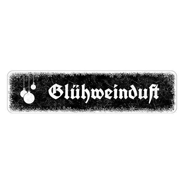Schild Schneeflöckchen mit Wunschtext 300 x 75 mm schwarz