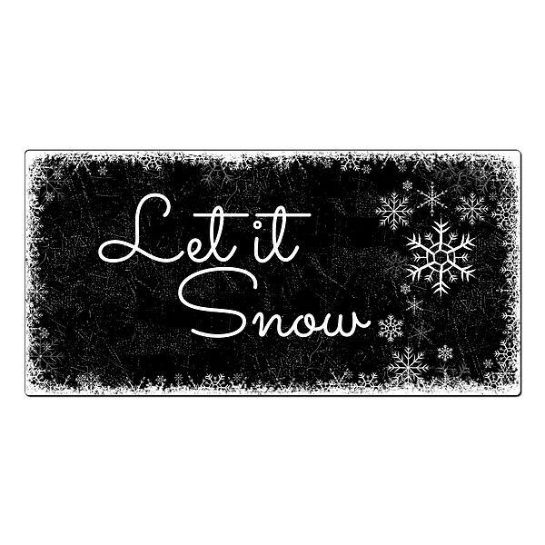 weihnachtsdeko schneegest ber schild mit wunschtext 300 x 150 mm schwarz online. Black Bedroom Furniture Sets. Home Design Ideas