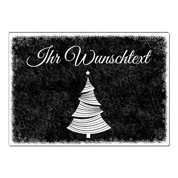 Weihnachtsgeschenk blechschild a4 schneegest ber mit wunschtext im format a4 schwarz online - Weihnachtsbaumkugeln schwarz ...