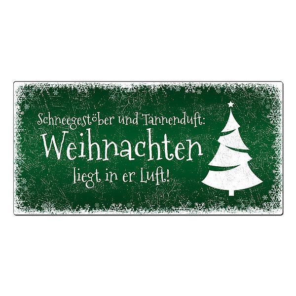 Winterdeko Schneegestöber - Blechschild zum Ver...