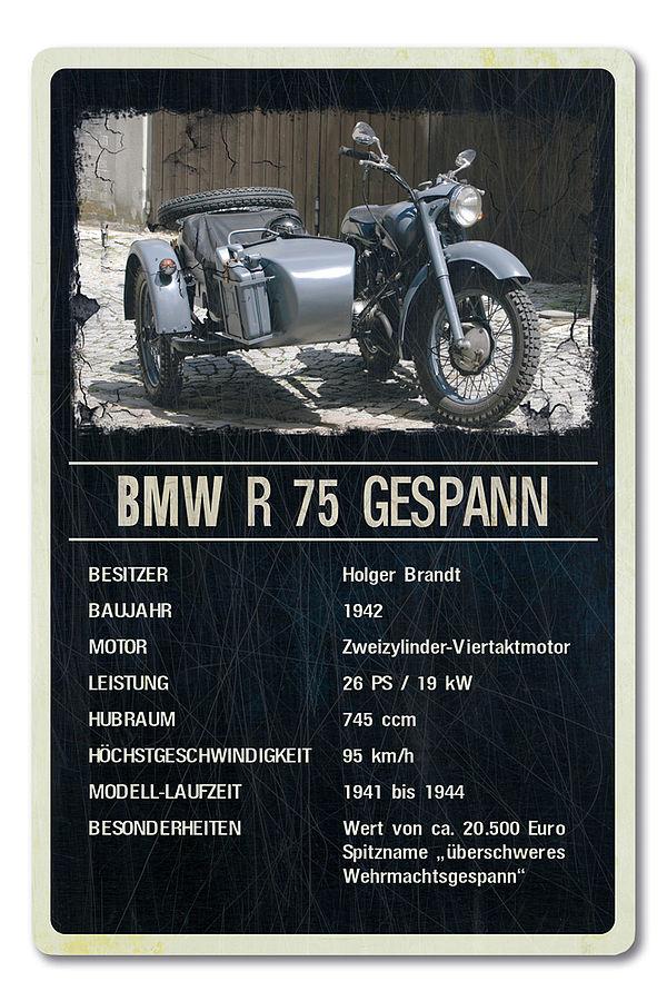 Oldtimer-Ausstellungsschild für Motorräder 200 x 300mm black vintage