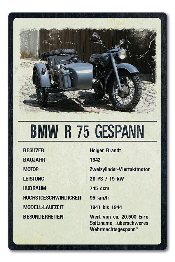 Oldtimer-Ausstellungsschild für Motorräder 200 x 300mm light vintage