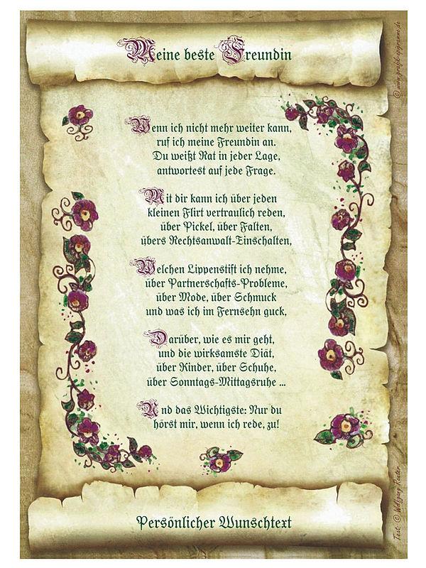 Gedicht fur eine freundin zur hochzeit