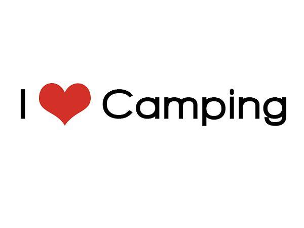Aufkleber - I love Camping - 30 cm
